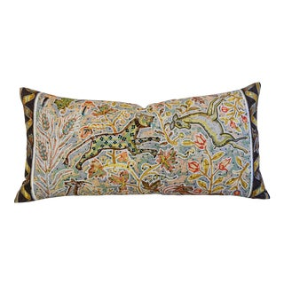 Custom Tailored Hermes Maurice Tranchant Silk Pillow