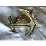 Image of Vintage Brass Nautical Bell on an Anchor With String