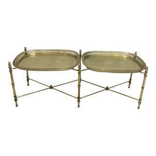 Unusual Brass Tray Table