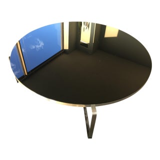 CB2 Black Glass Coffee Table