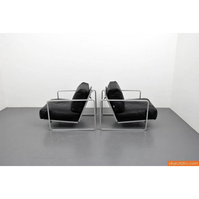 Pair of Zonatta Leather Lounge Chairs by Alfredo W. Häberli & Christophe Marchand - Image 4 of 8