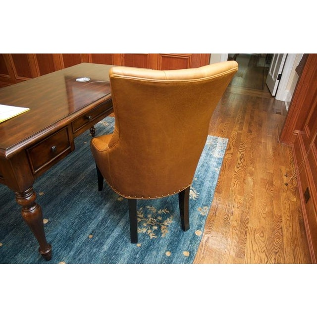 Leather Chair With Antique Brass Nail Heads - Image 5 of 5