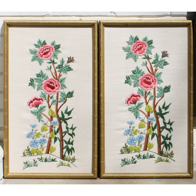 Vintage Needlepoint Pictures - Pair - Image 2 of 7