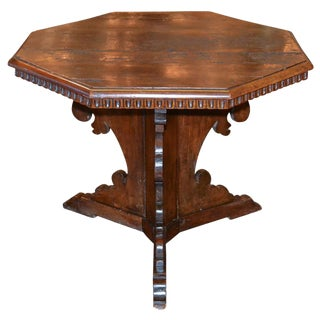 18th Century Italian Carved Walnut Side Table