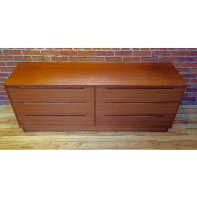 Danish Modern Teak Six-Drawer Dresser - Image 3 of 7