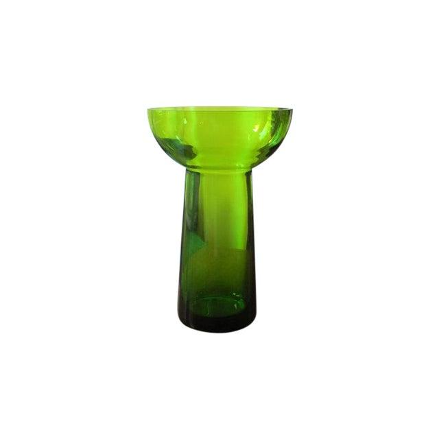Vintage Scandanavian Green Art Glass Centerpiece - Image 1 of 6