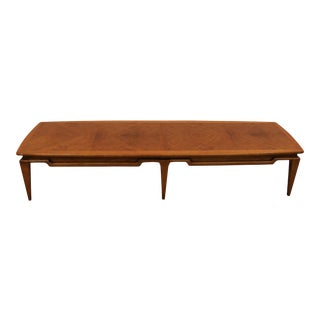 Lane Danish Modern Walnut Surfboard Coffee Table