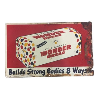 Vintage Wonder Bread Steel Sign
