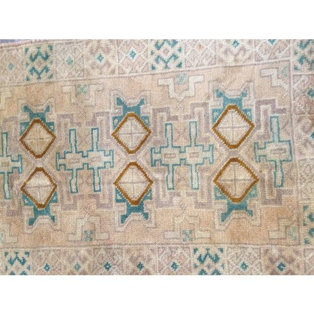 "Turkaman Handmade Persian Rug 1'6"" x 2'8"" - Image 4 of 10"