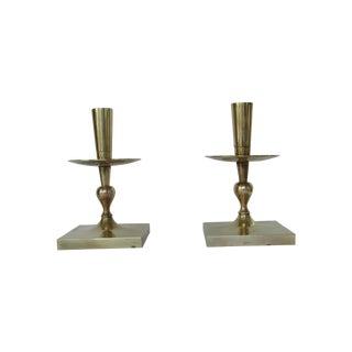 Tommi Parzinger Brass Candlesticks - Pair