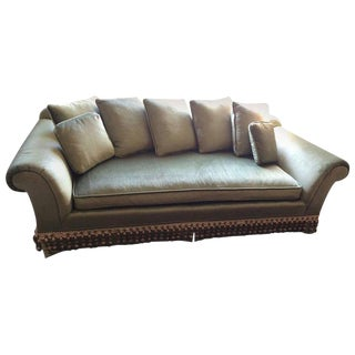 Very Elegant French Sofa Reupholstered in Silk Velvet
