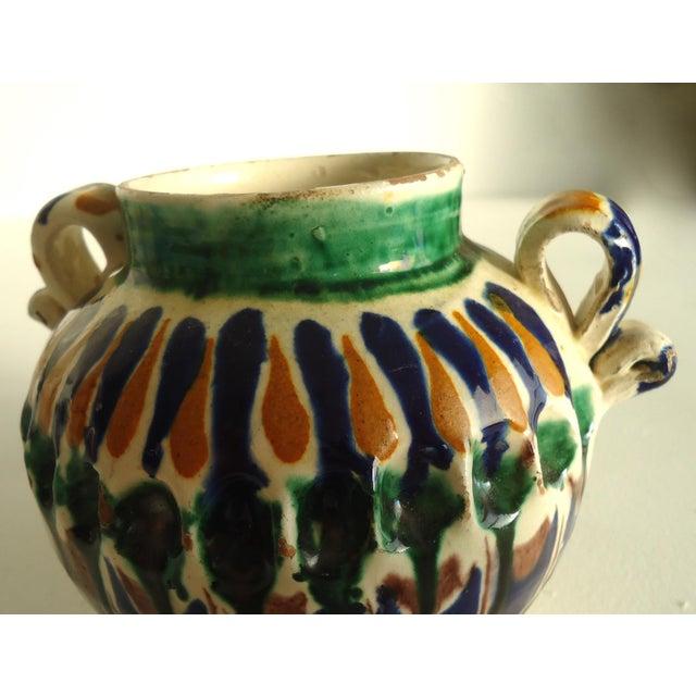 Rustic Folk Pottery Sugar Jar - Image 5 of 6