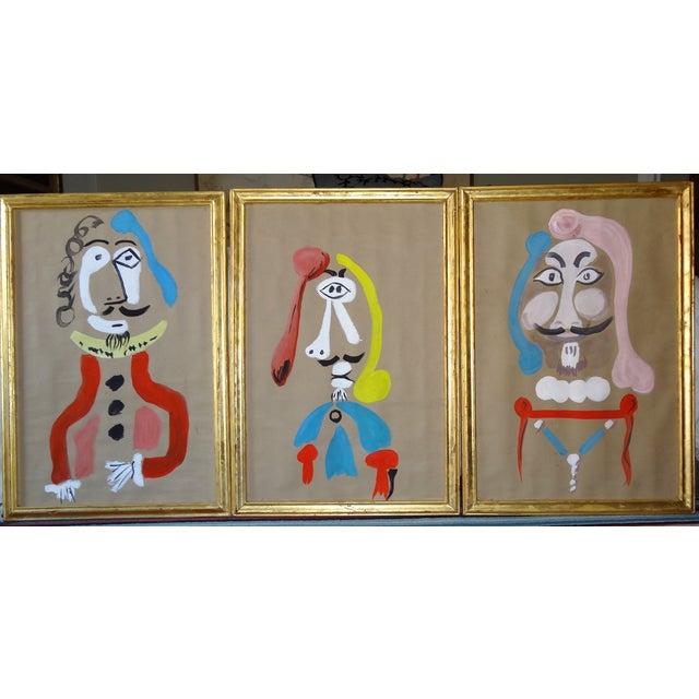 Trio of Surrealism Paintings - Image 2 of 8