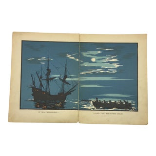 1931 Robinson Crusoe Ship Book Plate