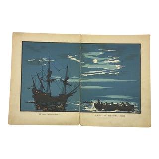 1931 Robinson Crusoe Ship Book Plate