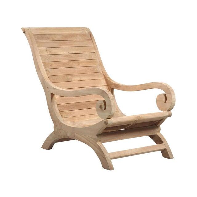 Teak Wood Lounge Chair Chairish