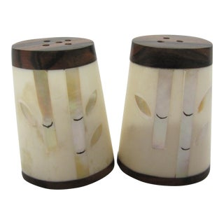 Hand-Crafted Carabao Salt & Pepper Shakers