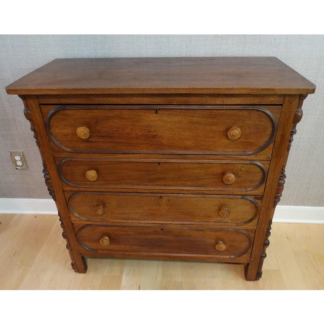 Antique 1800s 4-Drawer Mahogany Chest - Image 2 of 8
