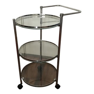 Vintage Chrome & Glass Bar Cart