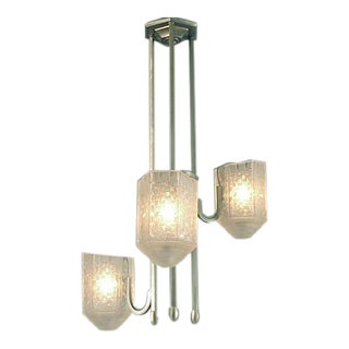 French Art Deco Three-light Chandelier