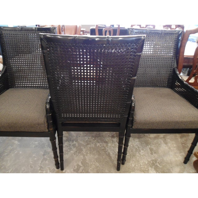 Palecek Black Bamboo Framed Chairs - Set of 4 - Image 3 of 5