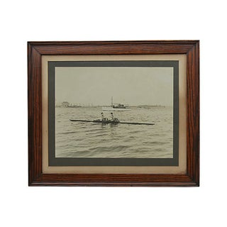 Framed Sculling Photograph