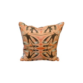 Peach Abstract Pillow by Amanda Talley