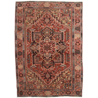 Hand Knotted Persian Habriz Rug - 7′9″ × 10′11″