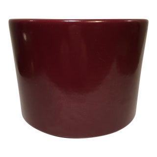 Vintage Gainey Burgundy Gloss Planter