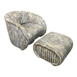 Preview Contemporary Swivel Chair & Ottoman