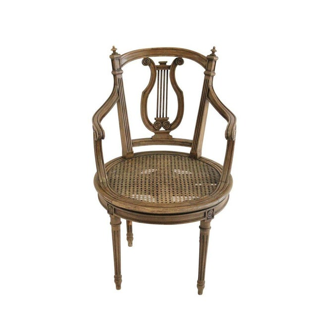 Walnut Swivel Vanity Chair - Image 1 of 3