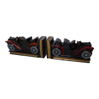 Vintage Car Bookends - A Pair