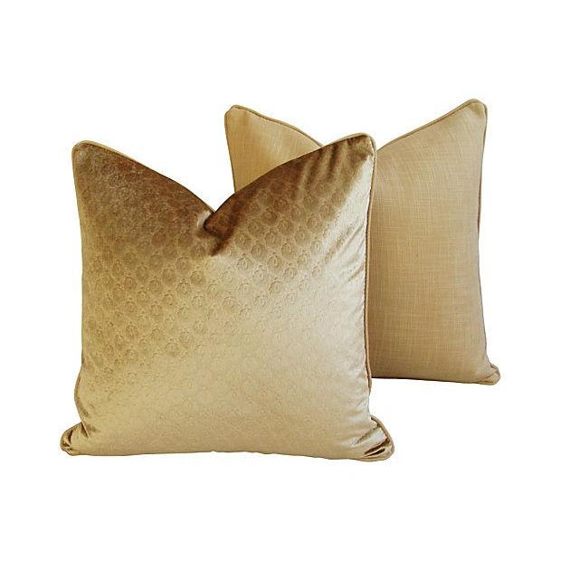 Custom French Pierre Frey Velvet Pillows - A Pair - Image 5 of 7