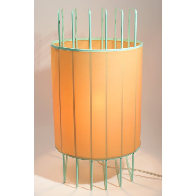 Image of 1970s Industrial Modern Wire Cage Lamp