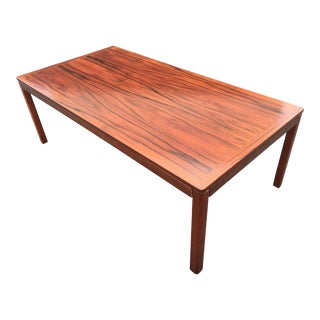 Vintage Mid Century Danish Modern Large Rosewood Coffee Table