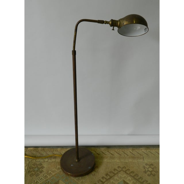 Vintage Brass Dome Floor Lamp - Image 3 of 6