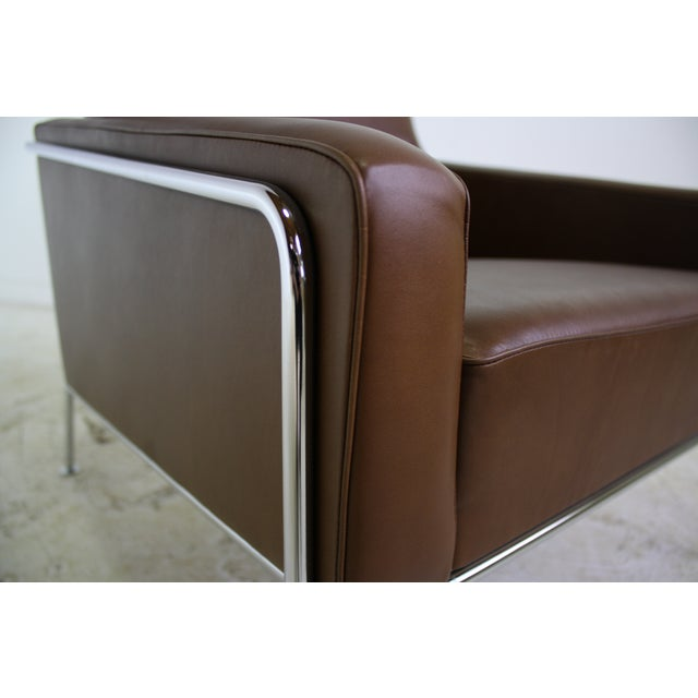 Fritz Hansen Leather Lounge Chair - 6 Avail. - Image 5 of 7