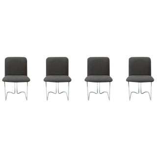Design Institute of America Chrome Dining Chairs - Set of 4