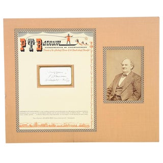 Circa 1880s P. T. Barnum Original Autographed Letterhead & Photo