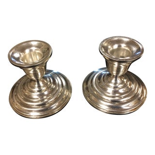 Sterling Silver Candlestick Holders - Pair
