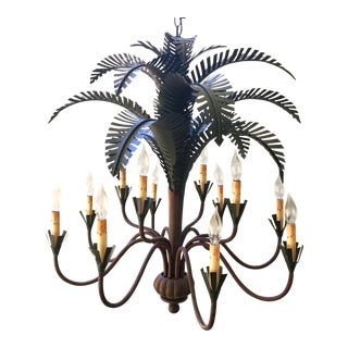 Currey & Co. 12-Light Palm Tree Chandelier