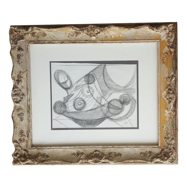 Freid Abstract Pencil Drawing - Image 1 of 3