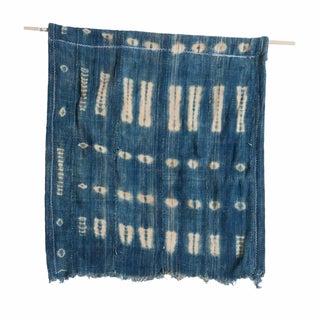 Vintage Indigo Blue Batik Wall Hanging