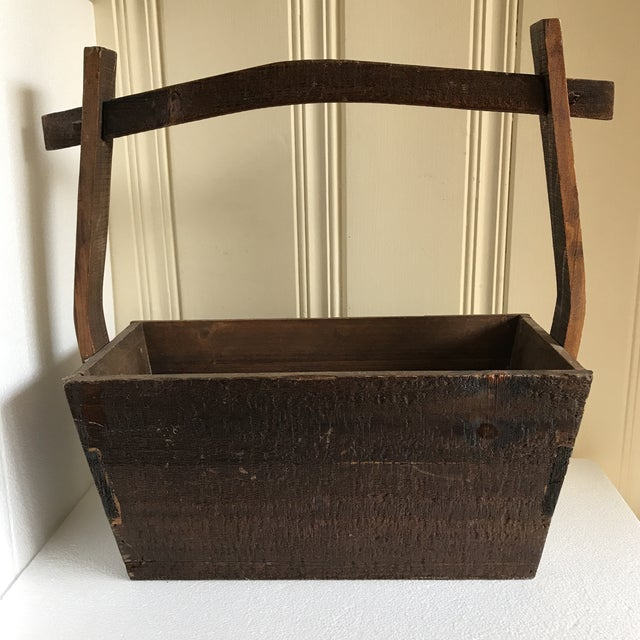 Primitive Rustic Wood Box - Image 3 of 11