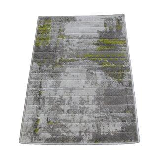 Green Abstract Rug - 1′8″ × 2′6″