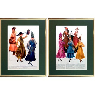1916 Delineator Fashion Advertising Prints - Pair