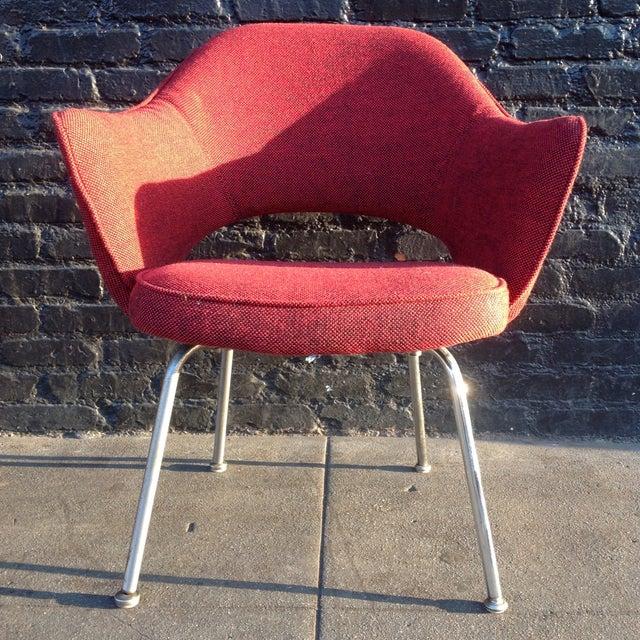 Eero Sarrinen Red Executive Chair - Image 2 of 5