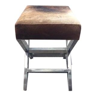 Shari Cowhide Small Bench