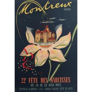 1952 Vintage Swiss Flower Festival Poster