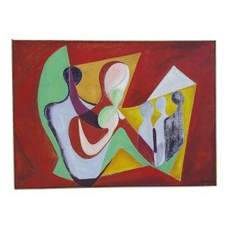 1977 Intermezzo Abstract Painting By Chester T. Kuziora